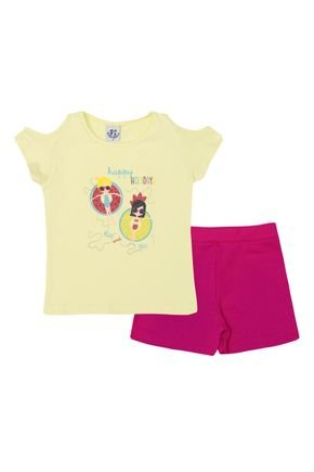 ln4159 1 am conjunto com shorts pink