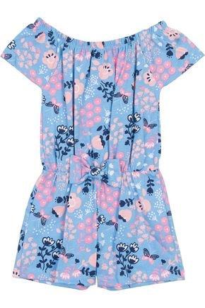 Macaquinho Menina em Cotton Azul Claro Rotativo - Hrradinhos