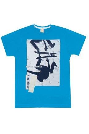 Camiseta Menino em Meia Malha Azul - Hrradinhos