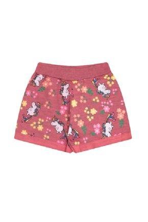 Shorts Menina em Moletinho Flamê Coral Rotativo - Bicho Bagunça
