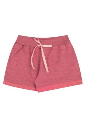 Shorts Menina em Moletinho Flamê Coral - Bicho Bagunça