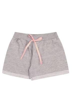 Shorts Menina em Moletinho Flamê Mescla - Bicho Bagunça