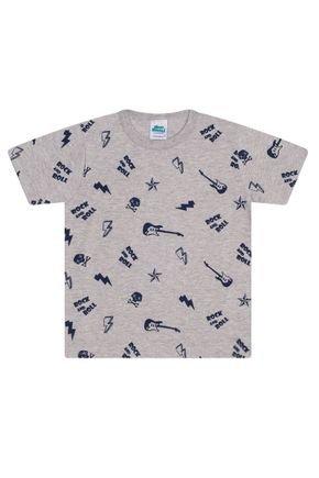 Camiseta Menino em Meia Malha Mescla - Bicho Bagunça