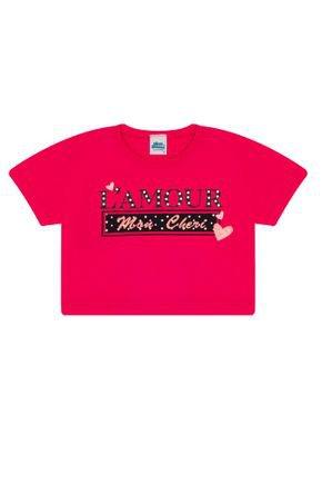 Cropped Menina em Meia Malha Pink - Bicho Bagunça