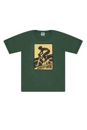 Camiseta Menino em Meia Malha Verde - Bicho Bagunça