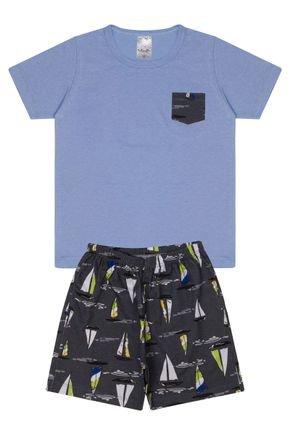 an292 az conjunto pijama menino de verao