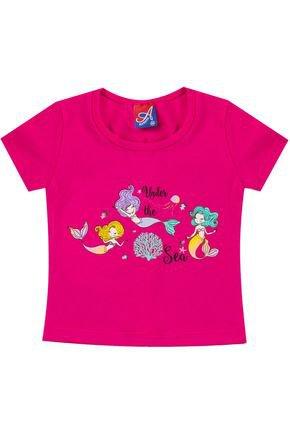 Blusa Menina de Verão em Cotton Pink - Alemara