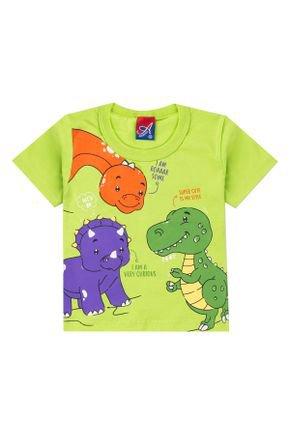 Camiseta Menino em Meia Malha Verde Lima - Alemara