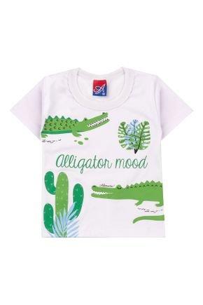 Camiseta Menino de Verão em Meia Malha Branca - Alemara
