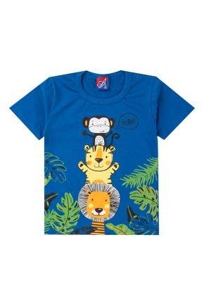 Camiseta Menino de Verão em Meia Malha Royal - Alemara