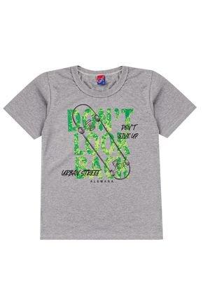 Camiseta Menino de Verão em Meia Malha Mescla - Alemara