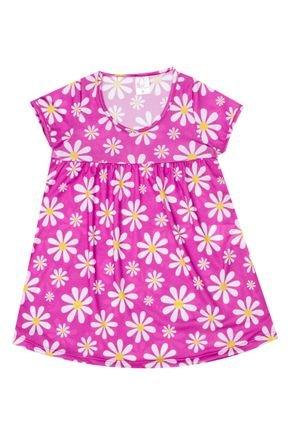 Vestido Menina em Suplex Rosa Rotativo - Liga Nessa