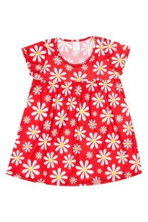 Vestido Menina em Suplex Vermelho Rotativo - Liga Nessa