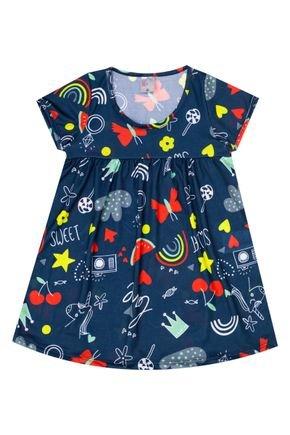 Vestido Menina em Suplex Petróleo Rotativo - Liga Nessa