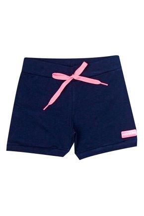 Shorts Menina de Verão em Cotton Marinho - Inovakids