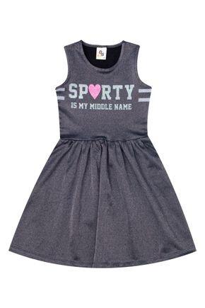 Vestido Menina de Verão em Cotton Jeans Preto - B Kids
