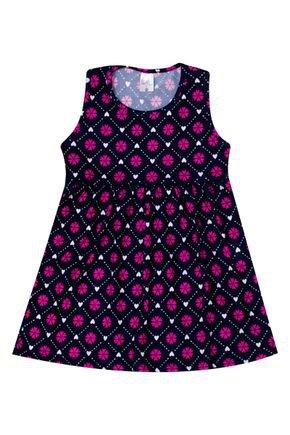 Vestido Menina de Verão em Suplex Marinho Rotativo - Liga Nessa