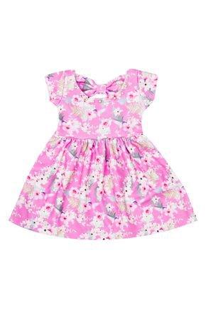Vestido Menina de Verão em Malha Liverpool Rosa - Molekada