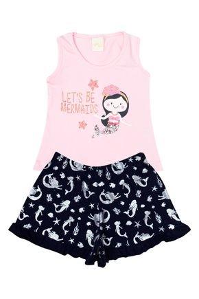 Conjunto Menina de Verão Regata Rosa e Shorts Pink - Molekada