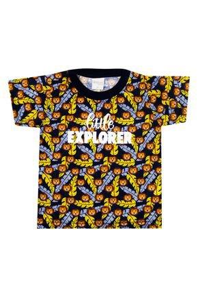Camiseta Menino de Verão em Malha Fiada Marinho - Molekada