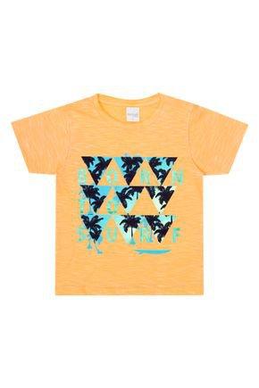 Camiseta Menino de Verão em Moline Laranja - Molekada