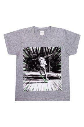 Camiseta Menino de Verão em Meia Malha Mescla - Molekada