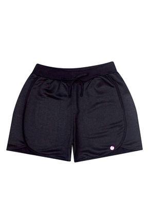 Shorts Menina de Verão em Moletinho Preto - Pimentinha
