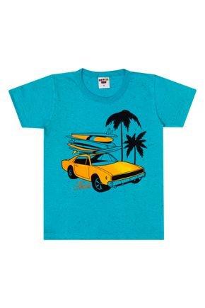 Camiseta Menino de Verão em Meia Malha Botonê Verde - Pimentinha