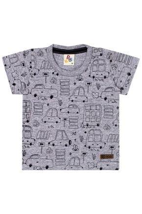 Camiseta Menino de Verão em Meia Malha Mescla - B Kids