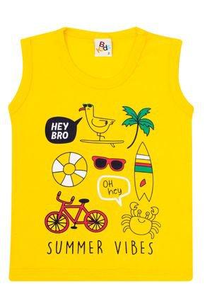 Regata Menino de Verão em Meia Malha Amarela - B Kids