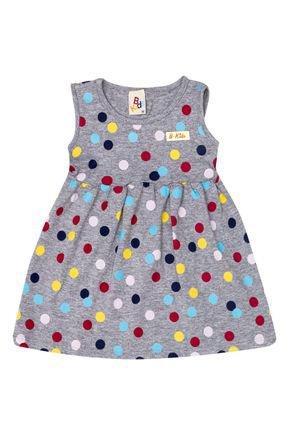 Vestido Menina de Verão em Cotton Mescla Rotativo -B Kids