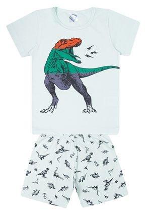 Conjunto Pijama Infantil Menino em Meia Malha Verde Claro - Kontrato