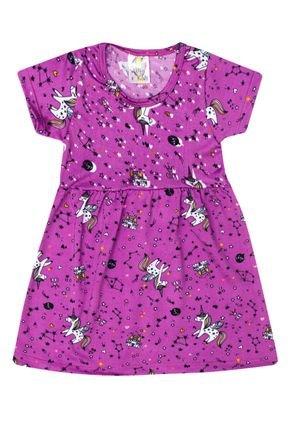 Vestido Menina de verão em Suplex Uva Sublimado - Kontrato