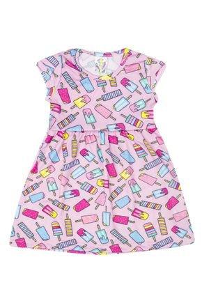 Vestido Menina de Verão em Suplex Lilás Sublimado - Kontrato