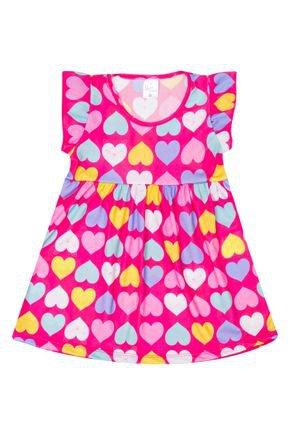 Vestido Menina de Verão em Suplex Chiclete Rotativo - Liga Nessa