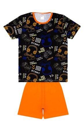 Conjunto Pijama Masculino de Verão Camiseta e Bermuda - Liga Nessa