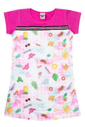 Vestido Menina em Moletinho Rosinha com Recorte Pink - Pimentinha