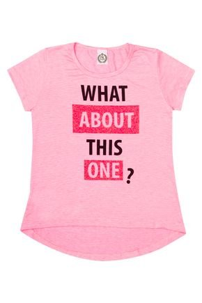 Blusa Mullet Menina em Cotton Viscose Pink - Pimentinha