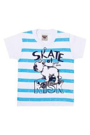 Camiseta Menino em Meia Malha Branca - Pimentinha