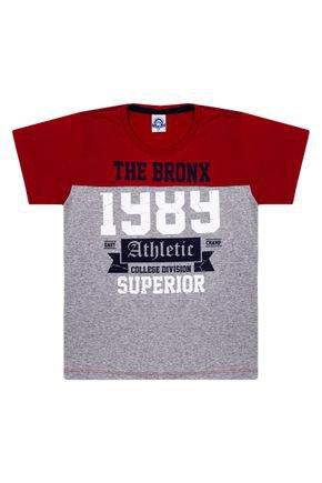 Camiseta Menino em Meia Malha Vermelha - Pimentinha