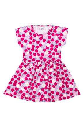 Vestido Menina de Verão em Suplex Rosa Claro Sublimado - Liga Nessa