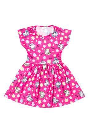 Vestido Menina de Verão em Suplex Pink Sublimado - Liga Nessa