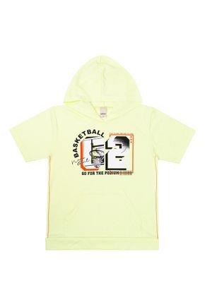 Camiseta Menino em Meia Malha Laranja de Verão - Ralakids
