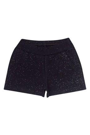Shorts Menina em Cotton Preto de Verão - Tileesul