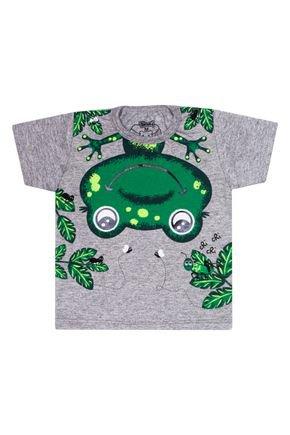 Camiseta Menino em Meia Malha Mescla de Verão - Tileesul