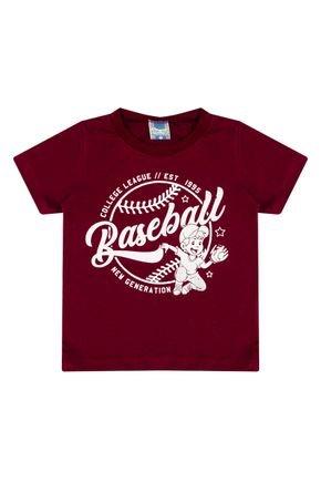 Camiseta Menino em Meia Malha Vermelha de Verão - Tilessul