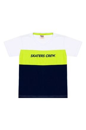 Camiseta Menino em Meia Malha Verde com Recorte - Viston