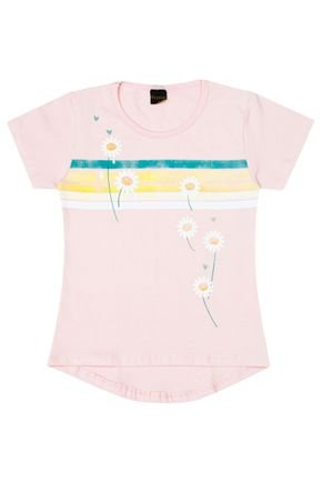 Blusa Menina em Cotton Rosa Claro - Viston