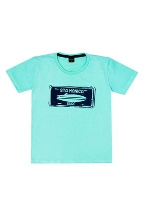 Camiseta Menino em Meia Malha Verde - Viston