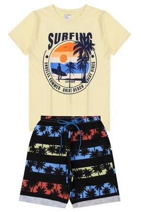 Conjunto Menino de Verão Camiseta e Bermuda - Kappes